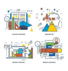 creativity vision knowledge idea generation vector image vector image