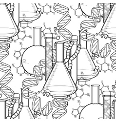 Genetic research pattern vector image
