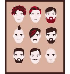 Guy barber kit vector