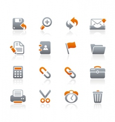 interface web icons vector image vector image