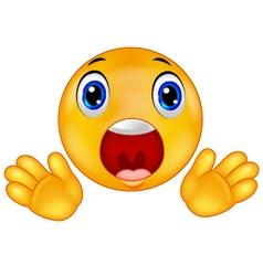 Smiley emoticon surprised vector image