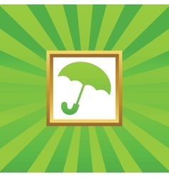 Umbrella picture icon vector image
