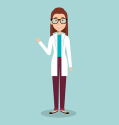 woman professional doctor avatar vector image