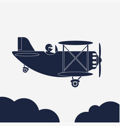airlane airplane icon aircraft in vector image vector image
