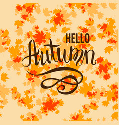 autumn background and lettering vector image vector image