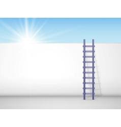Behind a wall vector image
