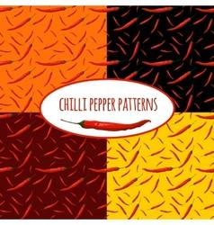 Chilli pepper seamless pattern vector image