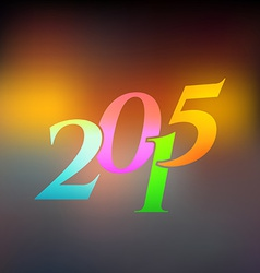 2015 on blured light background vector image
