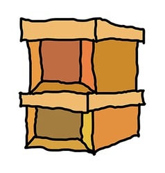 A pair of boxes vector