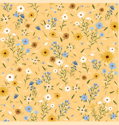 abstract floral seamless pattern with flowers vector image