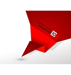 Abstract red origami speech background vector image