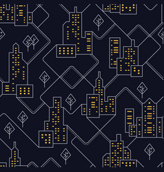 abstract urban seamless pattern landscape with vector image