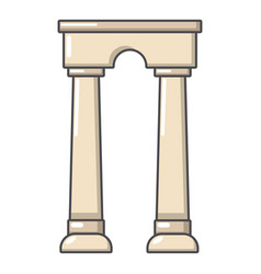 Archway egypt icon cartoon style vector