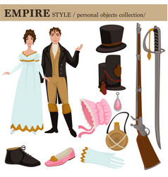 Baroque or 17 century european old retro fashion vector