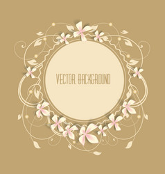 Beautiful frame vector image