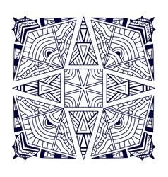 Black bandana print ethnic ornament pattern vector