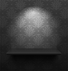 Black shelf vector