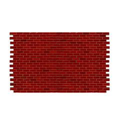 brick wall of red brick vector image