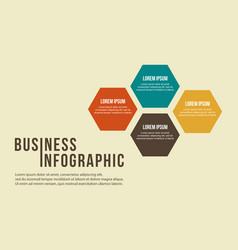 Business infographic step concept design vector