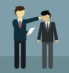 Businessman get fired flat modern design vector image