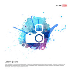camera icon - watercolor background vector image