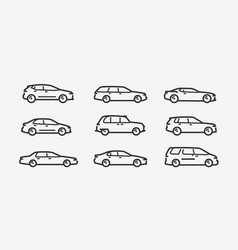 cars icon set transport transportation symbol in vector image