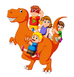 Children and some of them use the costume vector