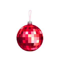 Christmas toy red faceted bal vector