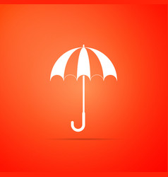 classic elegant opened umbrella icon isolated vector image