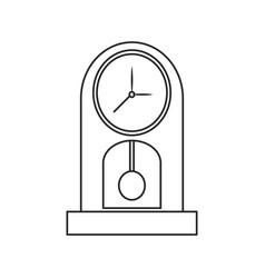 Clock pendulum time classic outline vector