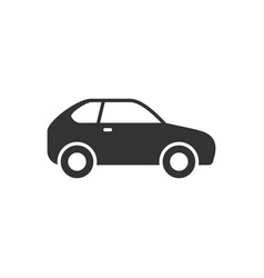 compact hatchback car glyph icon vector image