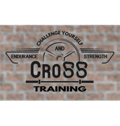Cross training emblem in vintage style vector