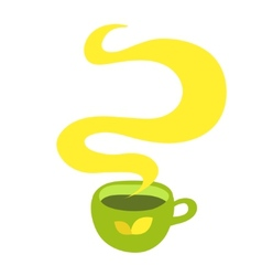 Cup of hot drink coffee tea etc vector image