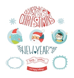 Decorative christmas elements vector
