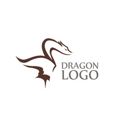 Dragon logo with sample of caption isolated on vector
