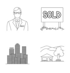 Employee of the agency sold metropolis country vector