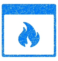 Fire Calendar Page Grainy Texture Icon vector