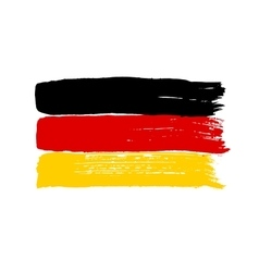 Flag of Germany on a white background vector