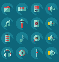 flat modern design with shadow icons music vector image