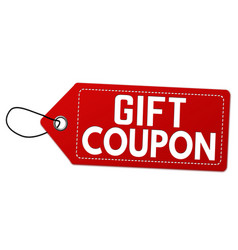 Gift coupon label or price tag vector