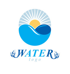 Global water circulation logo for use as vector