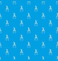 grape scissors pattern seamless blue vector image
