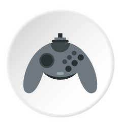 Gray joystick icon circle vector