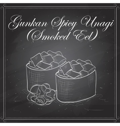 Gunkan Spicy Unagi vector