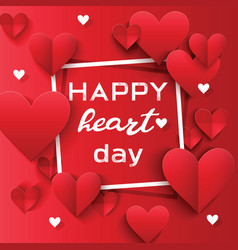 heart on valentines day in love pattern vector image