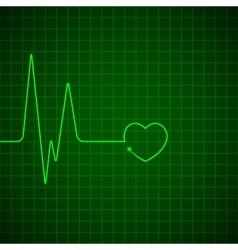Heart pulse monitor vector