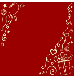 Holiday design elements vector image