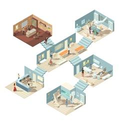 Hospital Isometric Concept vector