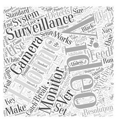 How home video surveillance works brought by vector