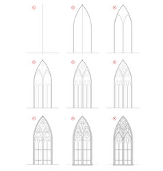 How to draw step-wise sketch beautiful gothic vector